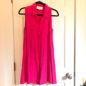 Charles Henry Sleeveless Shirt Dress